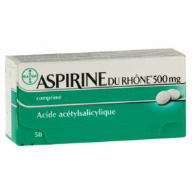Aspirine du Rhône 500mg - 50 comprimés - BAYER