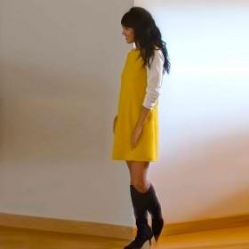 Senovie 100% cotton shift dress