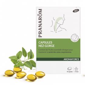Aromaforce nez et gorges 30 capsules - PRANARÔM