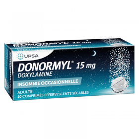 Donormyl 15 mg effervescent tablets - UPSA
