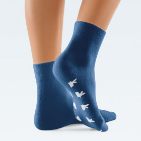 Chaussettes laine angora thermo ClimaCare bleues
